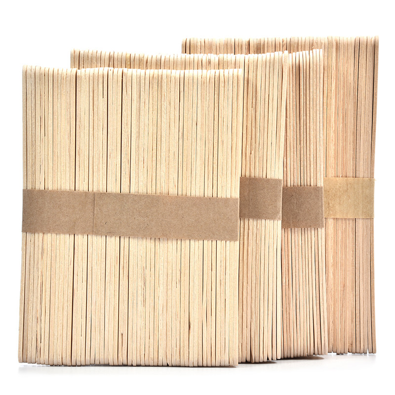 50Pcs Wooden Popsicle Stick Kids Hand Crafts Art Ice Cream Lolly Cake DIY Making Funny Ice Cream Stick