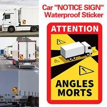 1/3/6/12/18/30pc veículo pesado ângulo morto reflexivo etiqueta caminhão ponto cego auto adesivo adesivo dica etiqueta do carro etiqueta