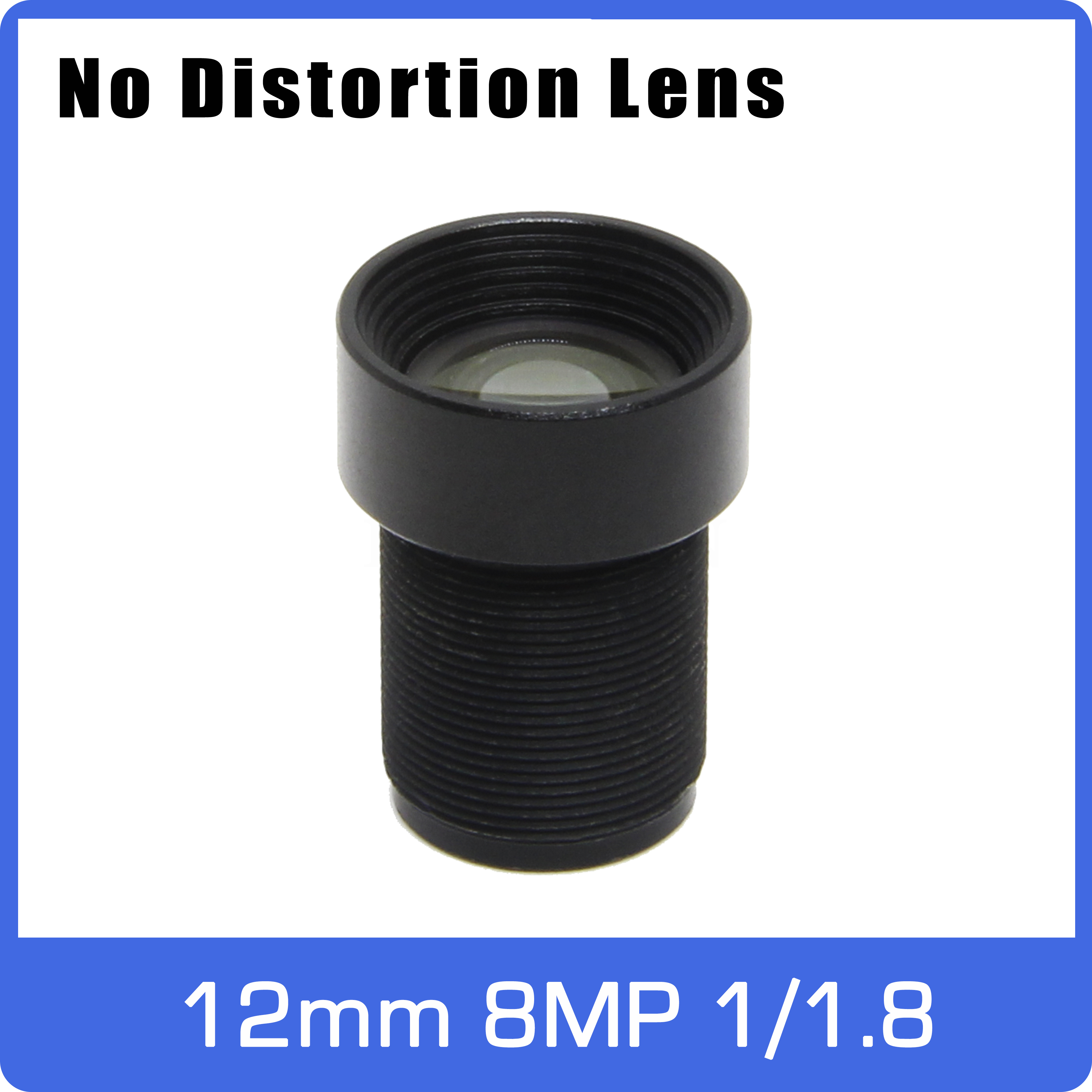8Megapixel 4K Fixed 1/1.8 Inch 12mm No Distortion F2.0 Lens Long Distance View For SONY 226/334 CCTV IP Camera Free Shipping