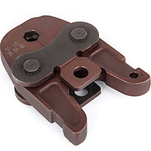 VEVOR V15mm Hydraulic Pressure Hose Clamp Jaw 0.6inch Pipe Wrench Hose Crimper Jaw TH/U/V Type for V15 Crimping Press Fittings