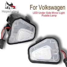 цена на 2Pcs LED Side Mirror Puddle Lights Lamp No Error for Vw Volkswagen EOS Passat B7 CC Scirocco Jetta