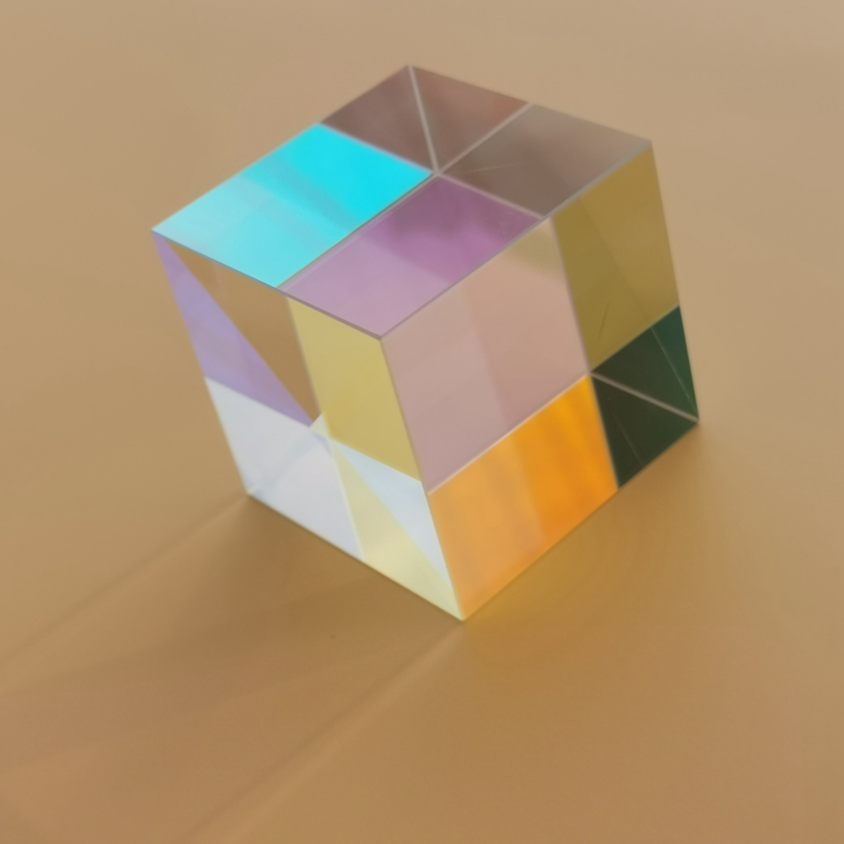 50*50*50mm Color Prism Six Bright Large Light Cube Creative Gifts Optical Experiments For Children Science