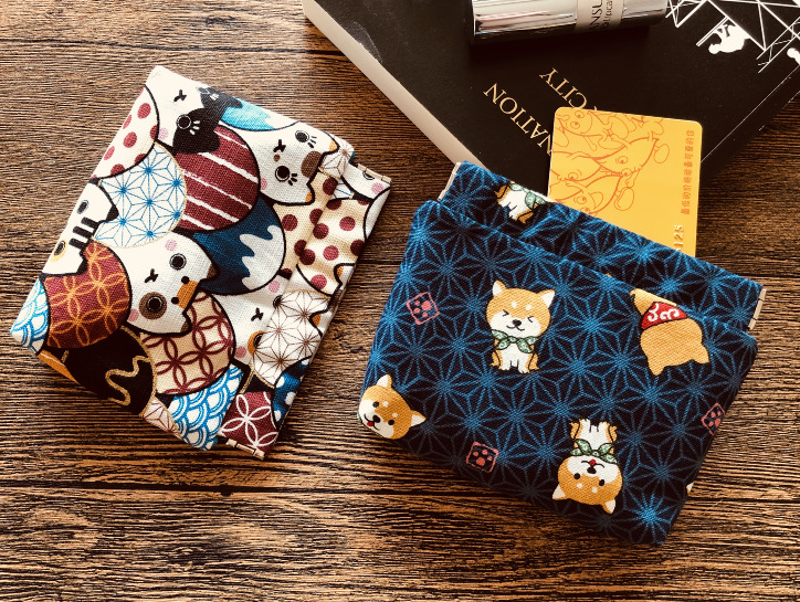 Japanese Style Wallet Purse Cute Small And Wind Zero Zip Card Package Cartoon Line Storage Key Meng Shiba Inu Small