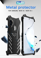R JUST Batman metal Aluminum phone case for samsung galaxy NOTE10 plus note9 note8 s8 s9 S10 plus 5G S7 E outdoor climbing cover
