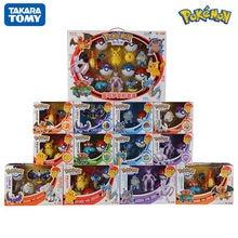 TOMY – ensemble de jouets Pokemon originaux, figurines de poche Monster Pikachu, modèle de jeu d'action, poupées, jouets pour enfants, cadeau d'anniversaire