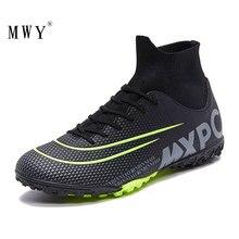 MWY мужские высокие лодыжки футбольные бутсы кроссовки для газона детская обувь для футбола Бутсы для футзала кроссовки футбол Enfant