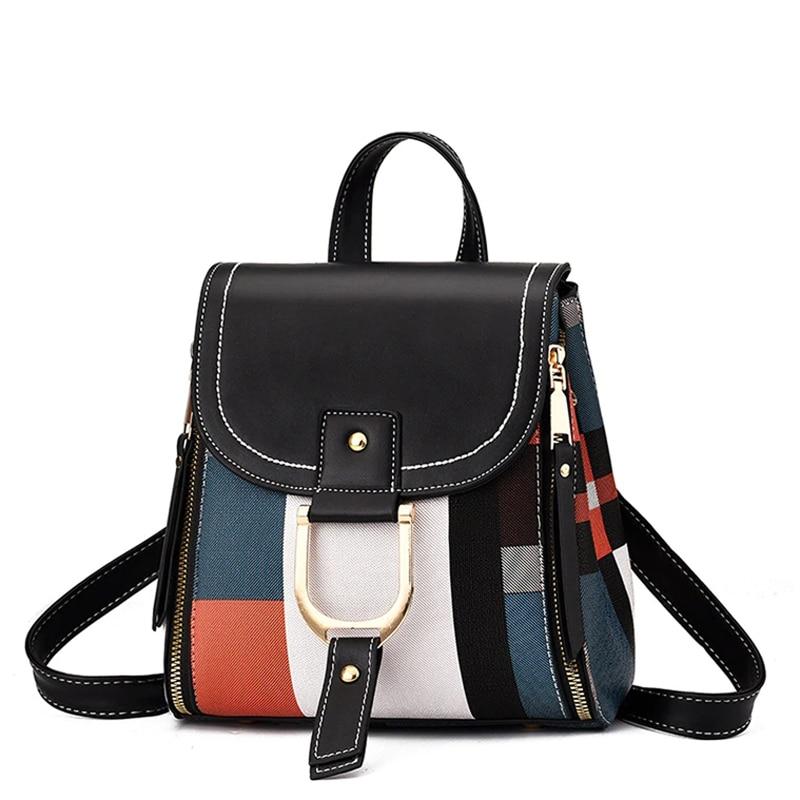 Women Handbag School Bags For Teenager Girls Female Casual Tote Backpack Female Leather Shoulder Bag Crossbody Bag Girl Purses|Backpacks| - AliExpress