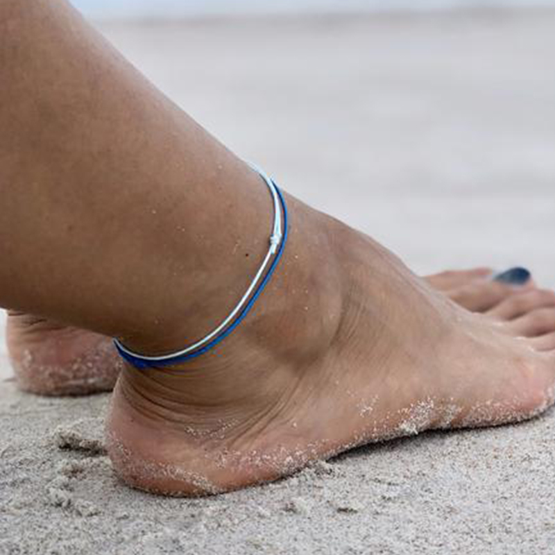 Boho Style Colorful braided anklet Bracelet Jewelry Gift Adjustable anklet