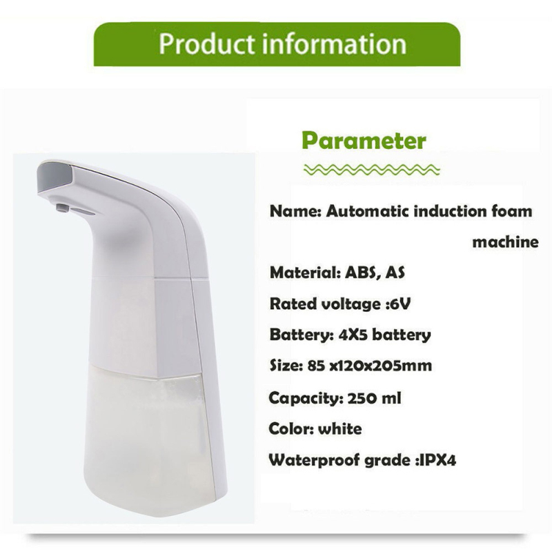 H0fe8bea32ffa4aee9a6fce6d29188f53H Automatic Waterproof Foam Liquid automatic soap dispenser wall Infrared Sensor Touchless Hand Washer soap dispenser Dropshipping