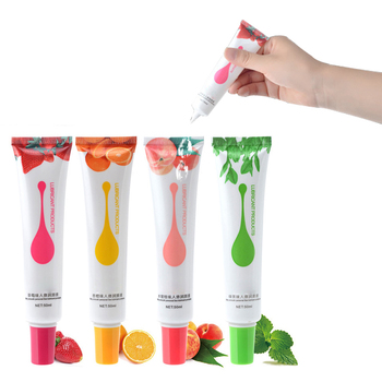 Lubricante de fresa 50 ml, melocotón naranja, fruta comestible, lubricantes a base de agua, lubricante para sexo Oral, grasa Vaginal