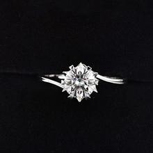 925 Sterling Zilver Moissanite Ring 1ct Ij Kleur Lab Diamond Sieraden Sneeuwvlok Stijl Anniversary Ring