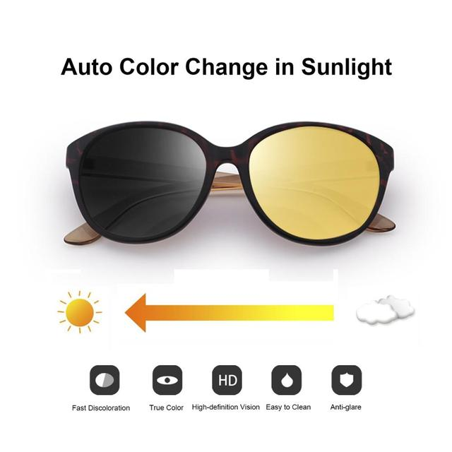 FENCHI kedi göz kadınlar gece görüş gözlüğü polarize sarı Lens güneş gözlüğü sürüş gece görüş gözlüğü için vizyon Nocturna