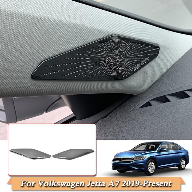 Car Styling Accessories For Volkswagen Jetta A7 2019  Present A pillar Speaker Box Sequins Interior Frame Cover Auto Accessories