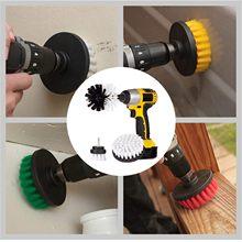Escova do purificador de energia conjunto para a broca do banheiro escova do purificador para a limpeza sem fio broca acessório kit power scrub amarelo