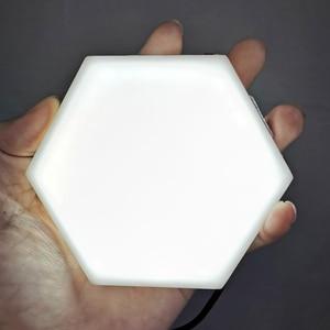Image 3 - Nowoczesna lampa sufitowa LED loft brytyjski kreatywny Honeycomb modułowy montaż Helios ekran dotykowy lampy lampa kwantowa ściana magnetyczna światło