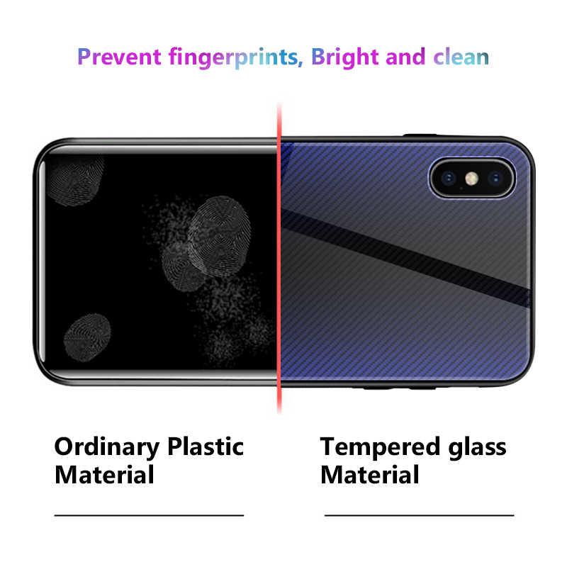 التدرج الزجاج المقسى حقيبة لهاتف أي فون 6 6S 7 8 زائد على ل iphone X XS XR XS ماكس الهاتف حالات غطاء واقية Fundas كوكه