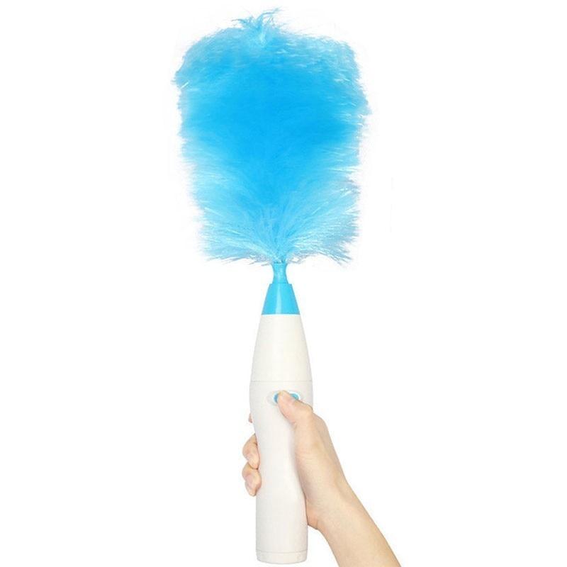 Eletroinic escova de cabelo spin mão elétrica espanador pó motorizado varinha remove poeira casa escova limpa|Escovas de limpeza| |  - title=