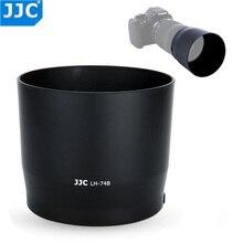 JJC geri dönüşümlü Lens Hood gölge Canon EF 70 300mm f/4 5.6 IS II USM geçer Canon ET 74B ile düğme kilit veya serbest bırakma