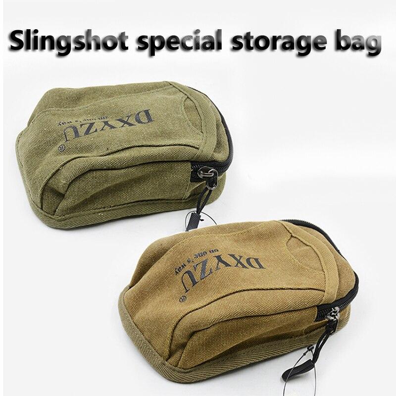 1pcs Slingshot fine Material canvas bags Balls Bag Case Pouch Holster Sling Shot Hunting Sports slingshot Accessories