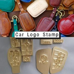 Customize Car logo key bag Lea