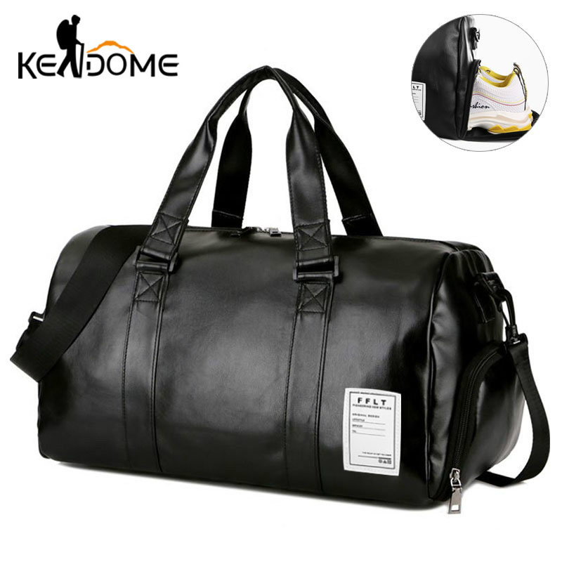 Gym Bag Leather Sports Bags Big Men Training Tas for Shoes Lady Fitness Yoga Travel Luggage