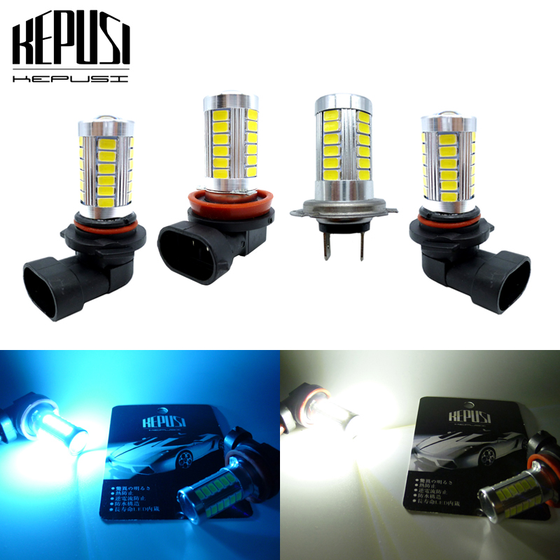 2x H8 H11 H7 9005 HB3 9006 White LED Fog Light Lamp Bulb Daytime Driving Light LED Fog Lamp For Cars Ice Blue 12V