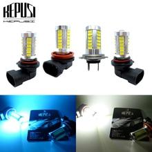 2x H8 H11 H7 9005 HB3 9006 White LED Fog Light Lamp bulb Daytime Driving for cars Ice Blue 12V