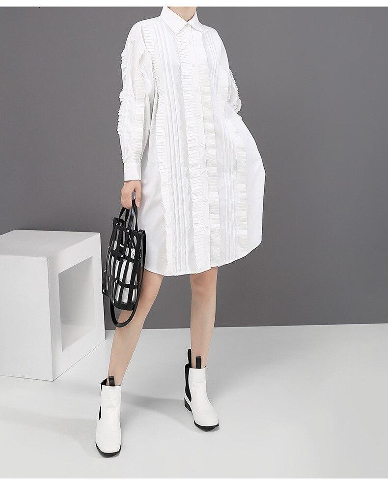 New Fashion Style Pleated Vest Big Size Asymmetrical Two Piece Dress Fashion Nova Clothing