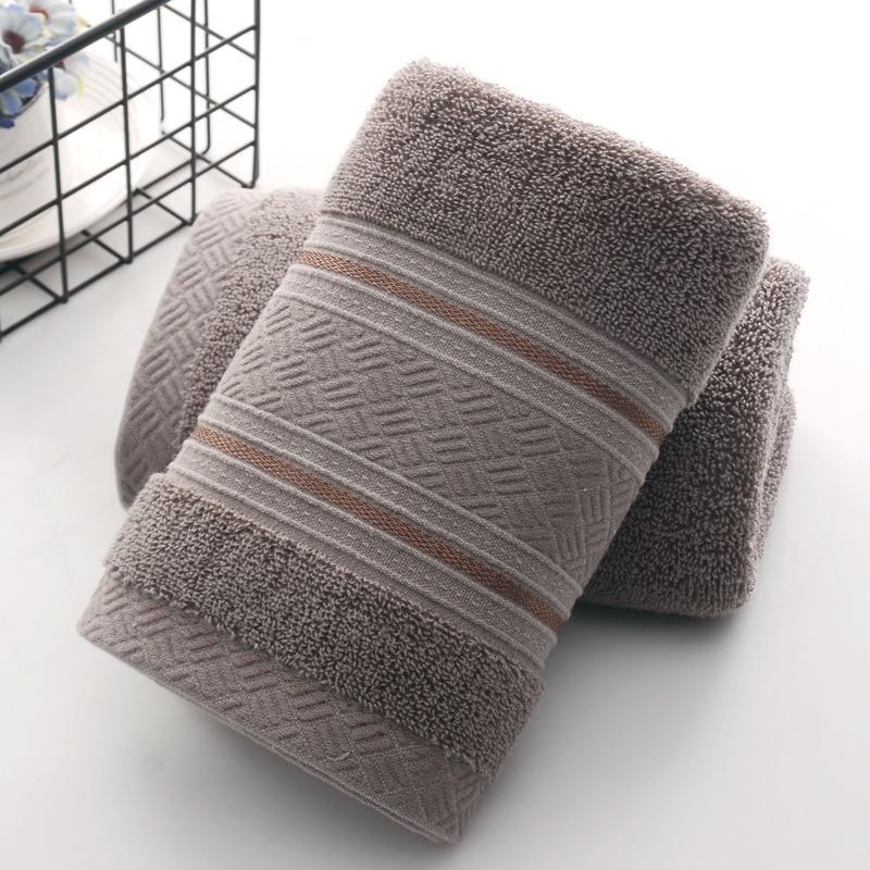 British Style Simple Solid Color Plain Pattern Man Washcloth Travel Hotel Bath Towel Bathrobe Camping Gym Portable Face Towels 5