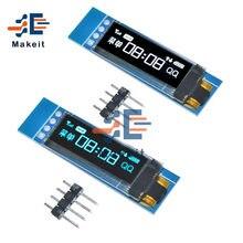0.91 Polegada 4 pinos 128x32 iic i2c série azul branco módulo de exibição oled ssd1306 driver ic placa de tela lcd 3.3v 5v para arduino pic