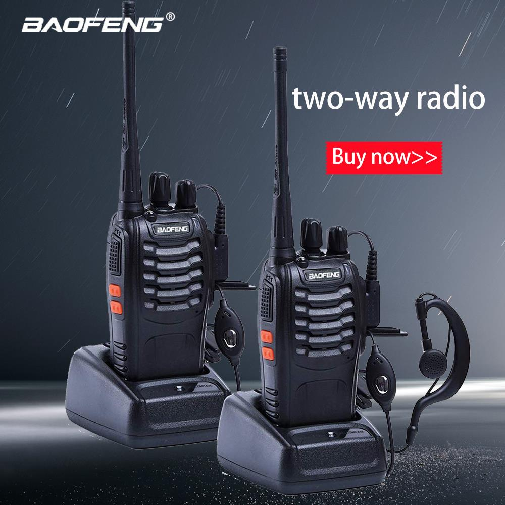Baofeng 1PC /2PCS Bf-888s Walkie Talkie Radio Station UHF 400-470MHz 16CH 888s CB Radio Talki Walki BF 888s Portable Transceiver