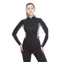 Женский водонепроницаемый костюм для дайвинга с длинным рукавом