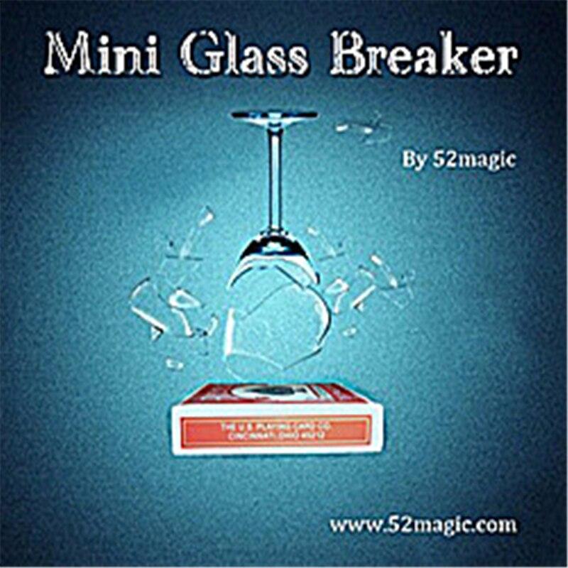 Mini brise-verre tours de magie comédie scène Magia Illusions Gimmick Magia appareil accessoires accessoires verre briser magiciens