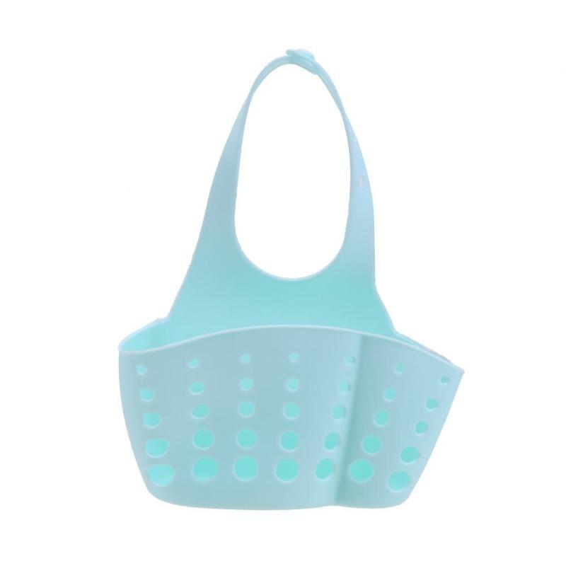 Корпус кухонных полок Колыбель держатель для губок на кухню корзина для хранения - Цвет: Синий