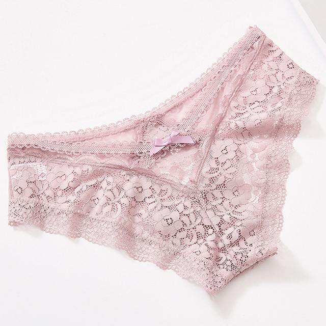 TERMEZY Sexy Panties Transparent Underwear Women Briefs Hollow Out High Quality Lace Underpants Lingerie G string Intimates M L 6