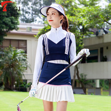 Женская жилетка для гольфа без рукавов, Трикотажная майка, женская мягкая эластичная жилетка, полосатый Удобный спортивный жилет, одежда для гольфа, D0850