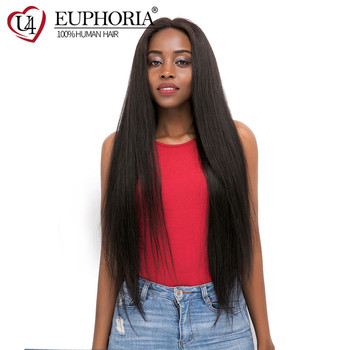 Natural Color Lace Front Wigs Brazilian Remy Straight Long Wigs 13x4 Lace Frontal Wigs Human Hair Wig Natural Hairline EUPHORIA