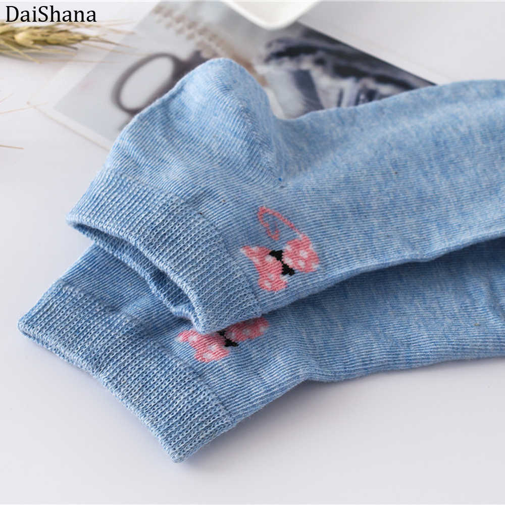 DaiShana 春夏猫暖かい快適な綿竹繊維ガール女性の靴下低女性に見えない色女の子ボートソックス。