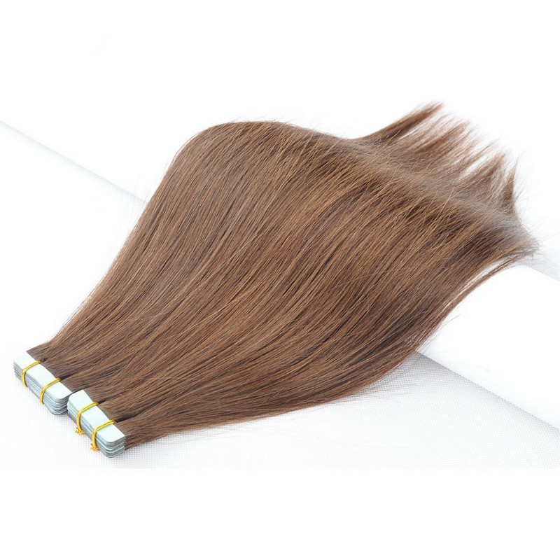12-22 Inch 2.5g/pc Remy Human Hair Straight Double Sides Tape In Hair Extension
