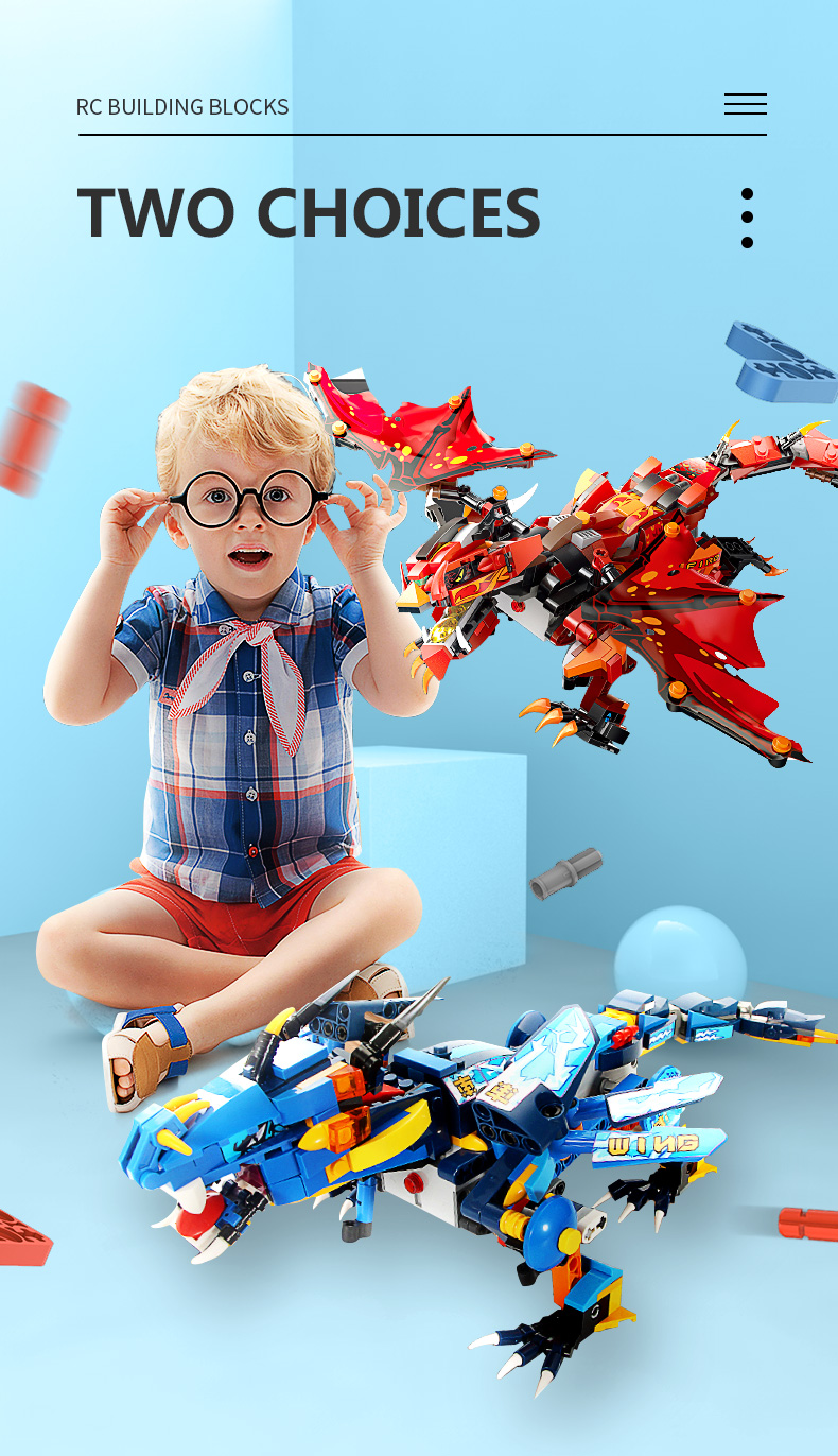 MOULD KING 13018 Compatible 70602 RC Technic Ninjaoes Dragon Knight Building Block 4
