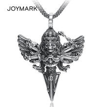925 Sterling Silver Jewelry Thousand-hand King Kong Pestle Necklace Pendant Retro Thai Silver Vajra Amulet Pendant For Men TSP25 недорого