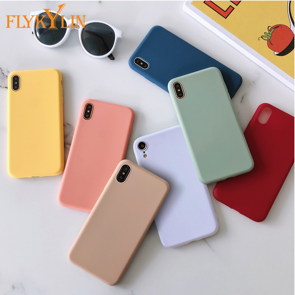 Matte Silicone Phone Case For Huawei P30 P20 Lite P10 Mate 20 Mate 30 Mate 10 Lite Pro Mate 9 TPU Candy Color Back Cover Coque(China)