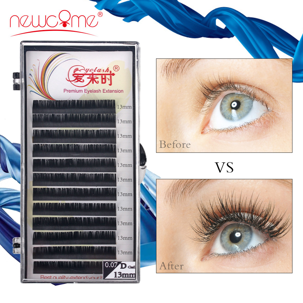 High Quality Individual Eyelashes Extensions Natural Lashes Russian Silk Volume Lash Extension Faux Mink Maquiagem Cilios Lashes