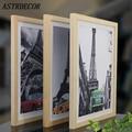 ASTRDECOR деревянная рамка А4 А3 черный белый деревянный природа сплошная фоторамка с ковриками для настенного крепления оборудования в комплек...