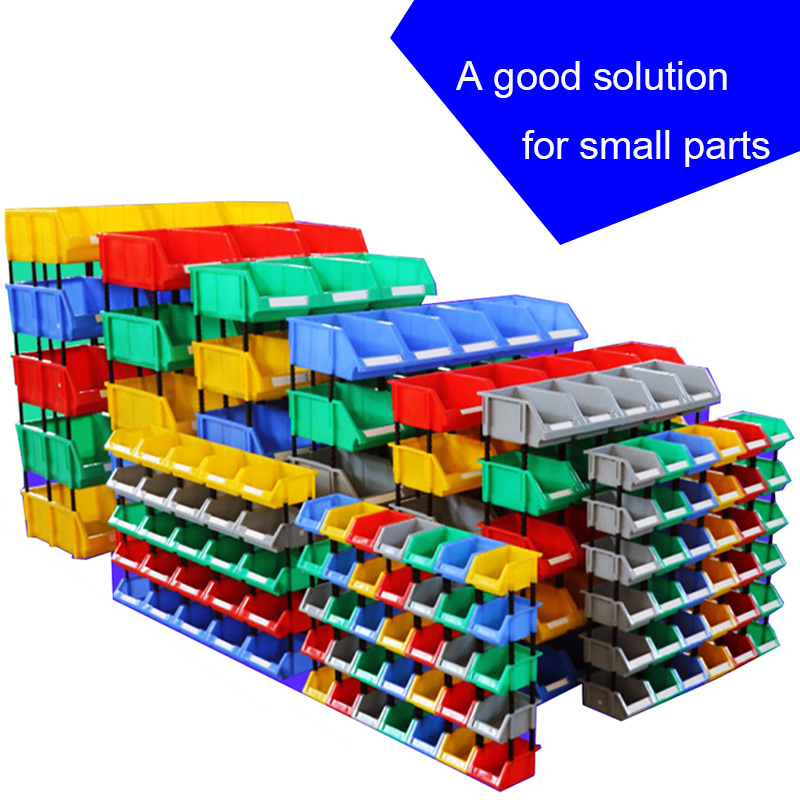 A Good Solution For Small Parts Thickening Storage Shelves Case Inclined Mouth Component Combination Plastic Storage Box