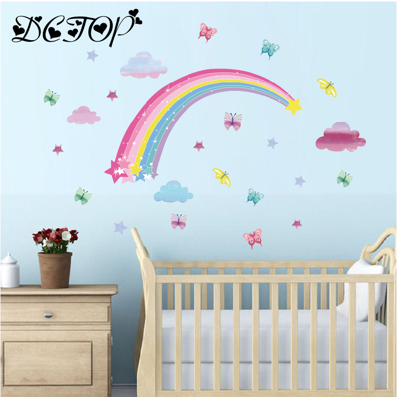 Wall Sticker kids baby rooms home decoration PVC Mural Decals nursery decorat I2