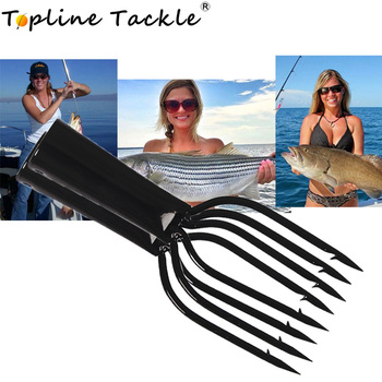 Topline Tackle underwater fishing spear head harpon fish spear hook tackle durable telescopic stainless steel spearfishing spear фото