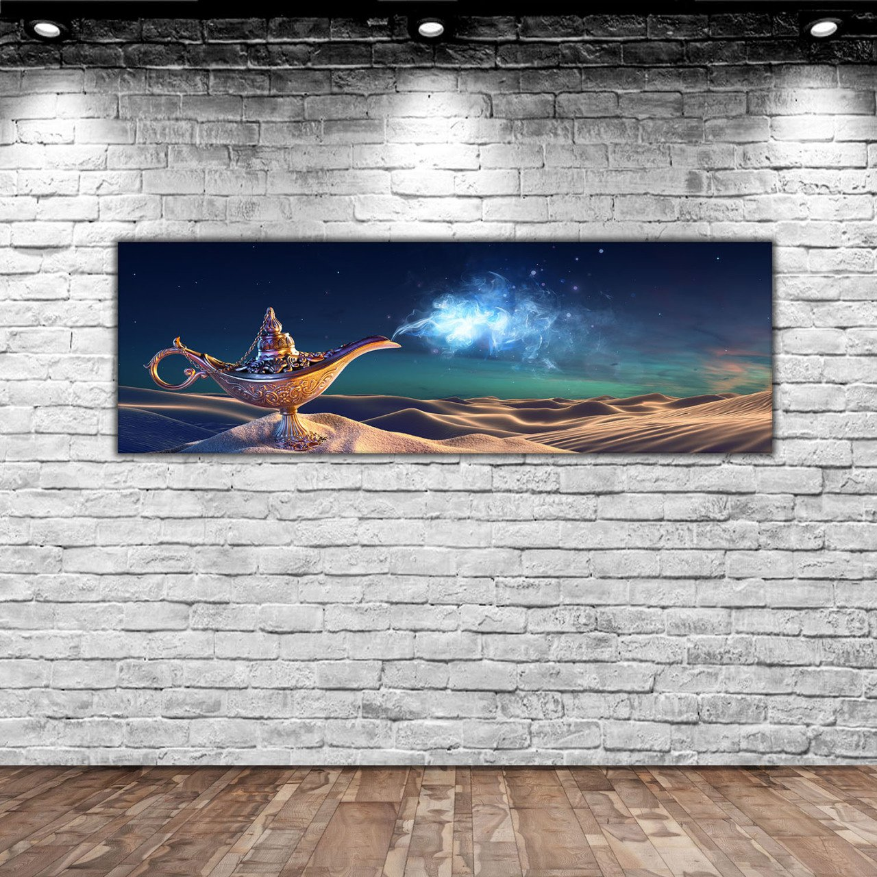 BK Home Aladdin 'S Magic Lamp Panorama Canvas Table 100x35cm-1Modern Convenient Reliable Decoration Gift Good Quality