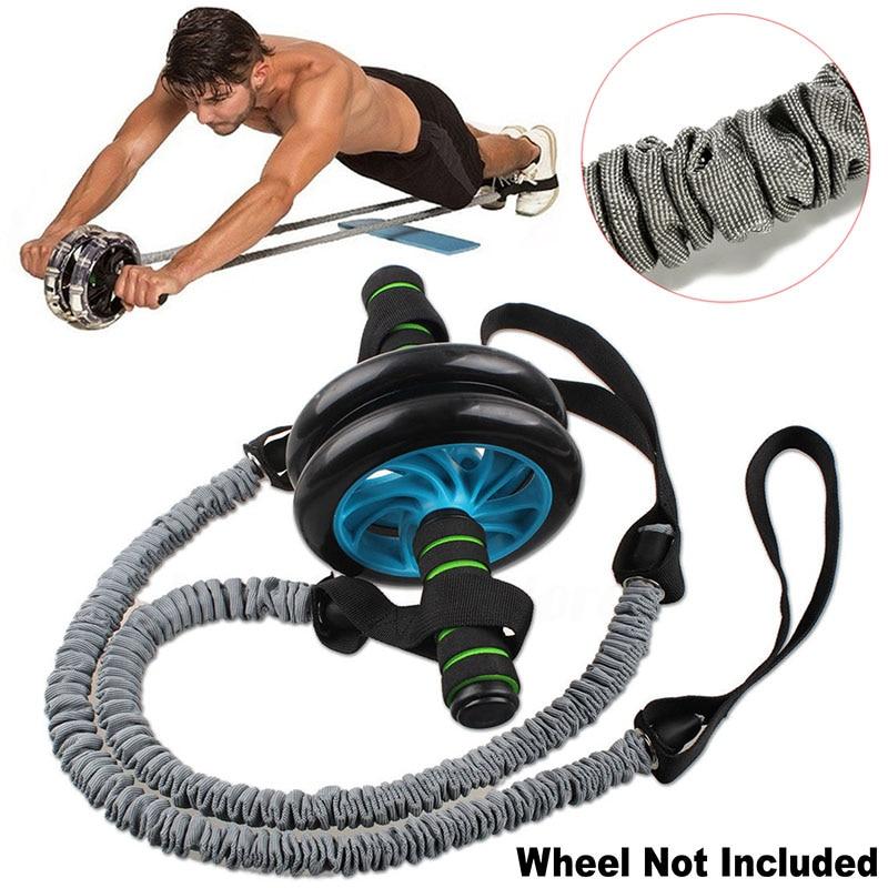 1PC Ab Roller Wheel Pull Rope Waist Abdominal Slimming Fitness Equipment