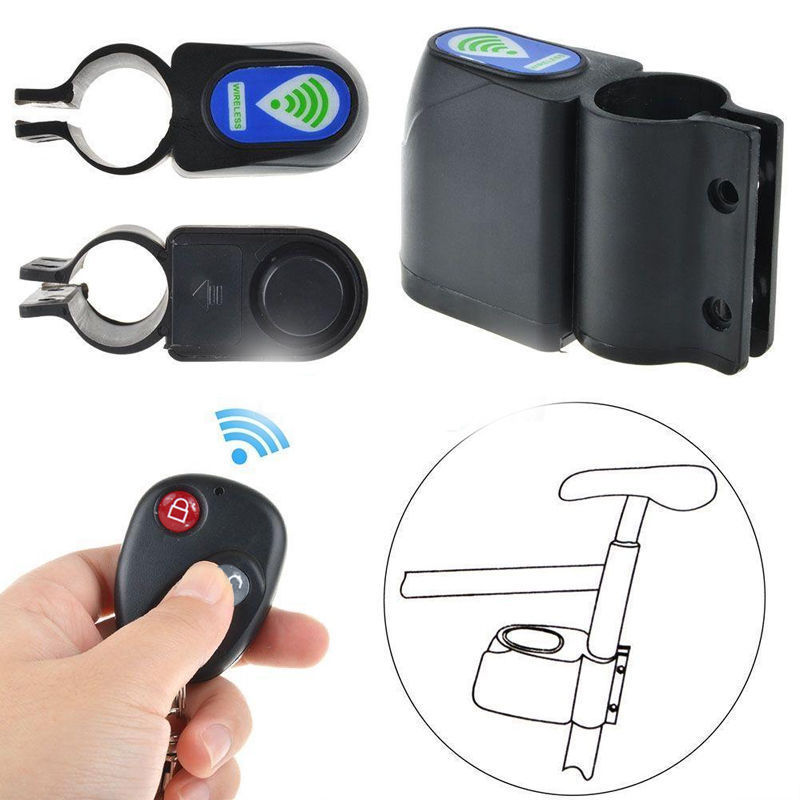 Wireless Vibration Alarm Lock Bicycle Bike Security System With Remote Control Anti-Theft Cycling Accessories Lock Bicicleta